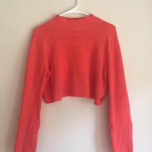 Orange Cropped Sweater
